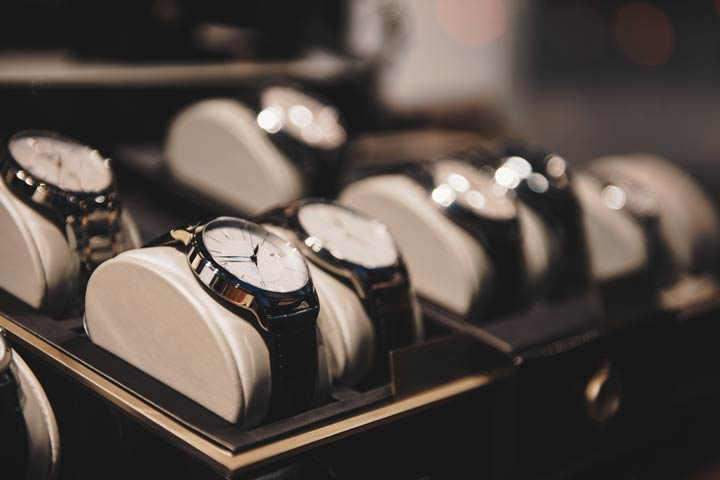 Luxusuhren beim Juwelier