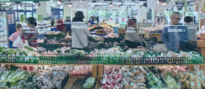 Überprüfungen-durch Sensoren im Supermarkt