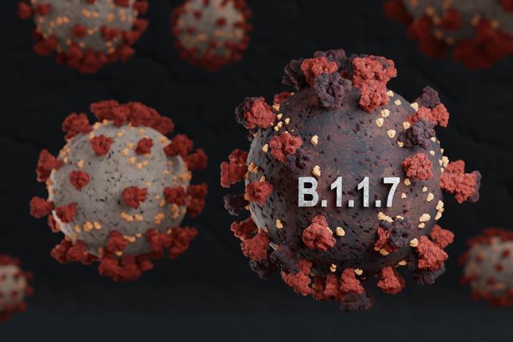 Britische Variante: B.1.1.7