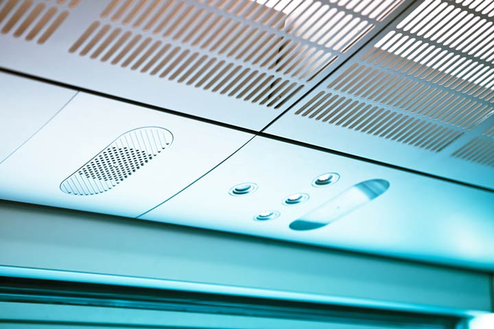 Klimaanlagen Bahn - Vollständiger Luftaustausch alle sieben Minuten