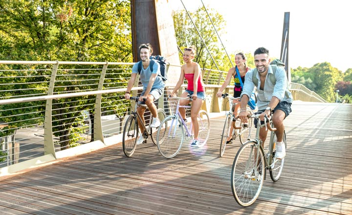 Moderates Radfahren bewikt einen markanten Anstieg der körperlichen Leistungsfähigkeit