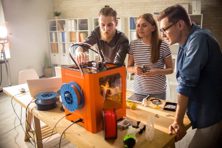 Vier verschiedene Druckverfahren - 3D-Druck