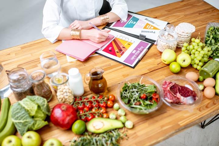 Ausgewogene Ernährung gegen Cellulite
