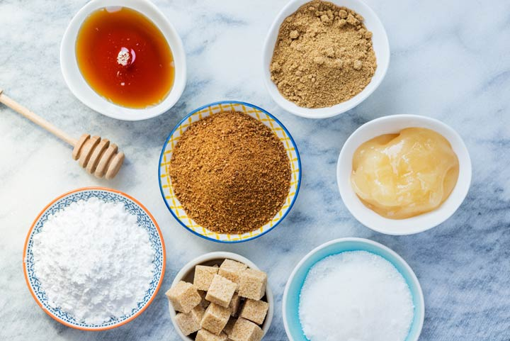 Arten von Zucker und Süßungsmitteln