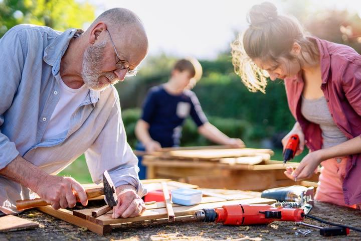 Materialien für das Gartenhaus