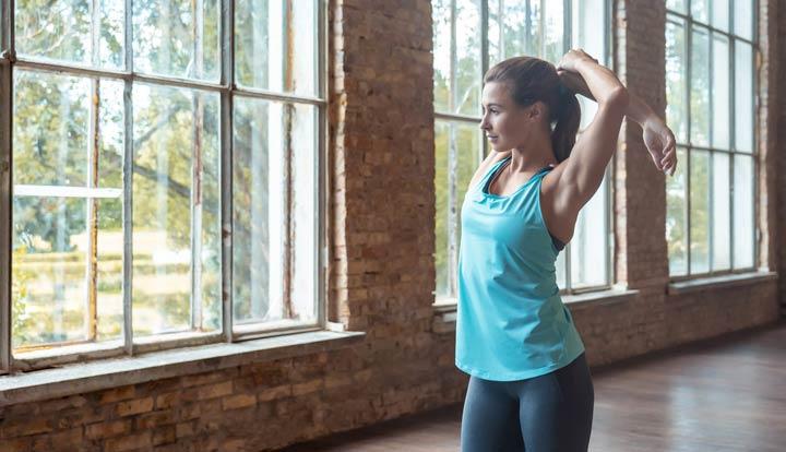 Muskeln werden dank der Aufwärm-Übungen besser durchblutet