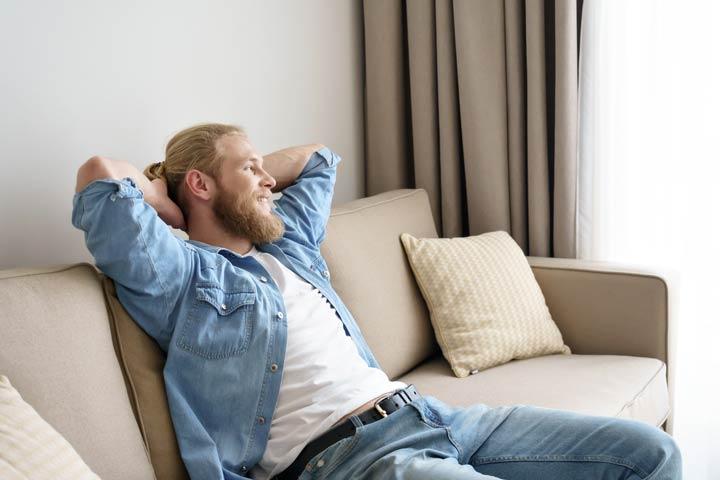 Ausruhen auf der Couch