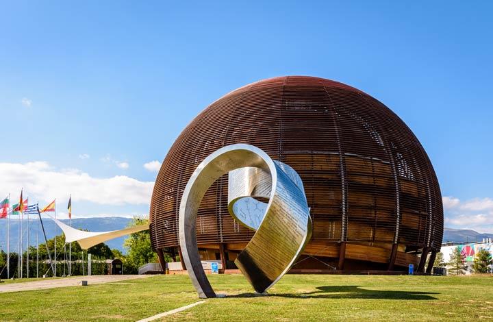 CERN am Stadtrand von Genf