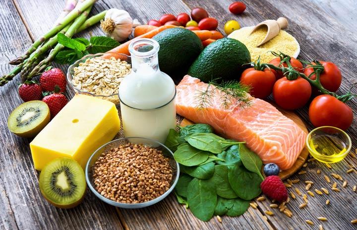 Gesunde und vitaminreiche Ernährung