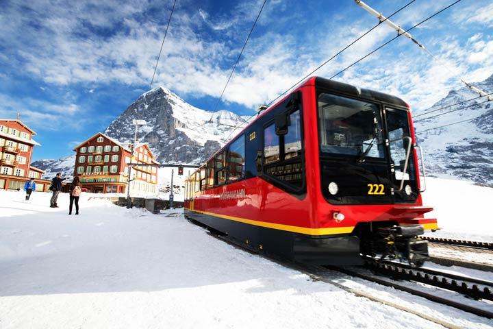 Mit dem Zug zum Jungfraujoch