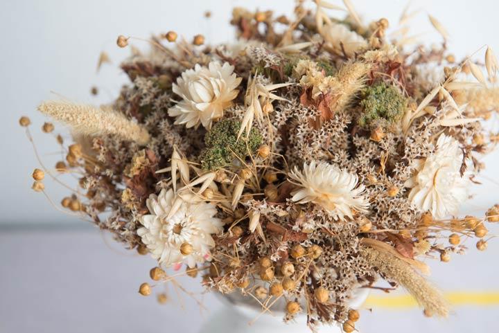 Strauß aus Trockenblumen